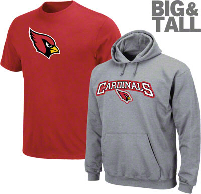 Big and Tall, Arizona Cardinals apparel, big and tall Arizona Cardinals jersey, arizona cardinals t-shirt