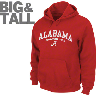 Alabama Crimson Tide, Big and Tall, Alabama Plus Size, 3X Alabama Shirts, Big Tall Alabama Apparel